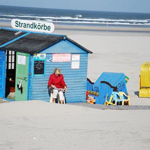 Strandpartie-Strandkorb
